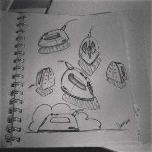 Strykjärn skisser