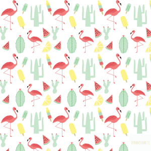 Pattern-flamingo, watermelon, cacti etc in swatche menu